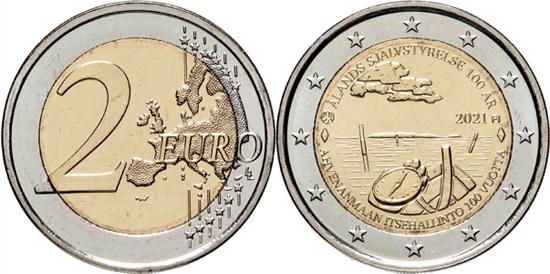 Finland 2 euro 2021 - Centennial of Åland Autonomy