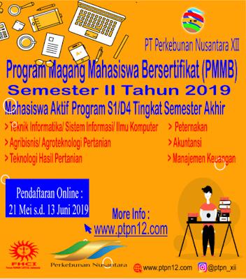 Program Magang Mahasiswa Bersertifikat (PMMB) PT Perkebunan Nusantara XII