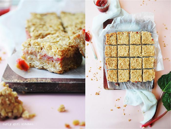 Rhubarb Oatmeal Bars, Fruit Oatmeal Bars, Oatmeal Crumb Bars, Rhubarb Desserts