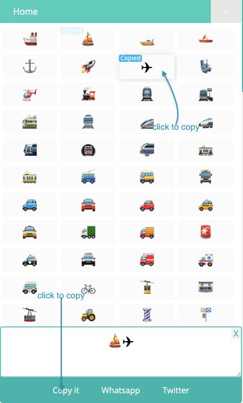 How to Copy 🚁 Transport Symbols?