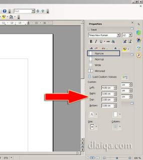 menentukan batas halaman (margin) - (2)