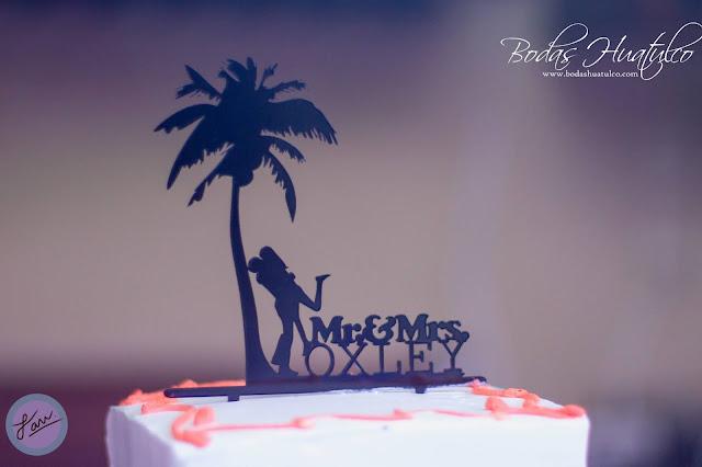 Boda en playa, Pasteles para una boda en playa, Beach Wedding, Bodas Huatulco