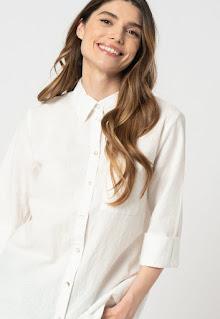 b.young - Дамска Риза с лен с асиметричен подгъв