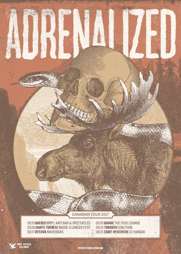Adrenalized announce Canada Tour 2017