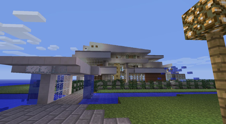 Tutos juegos y nada mas casas modernas de minecraft for Casa moderna 8