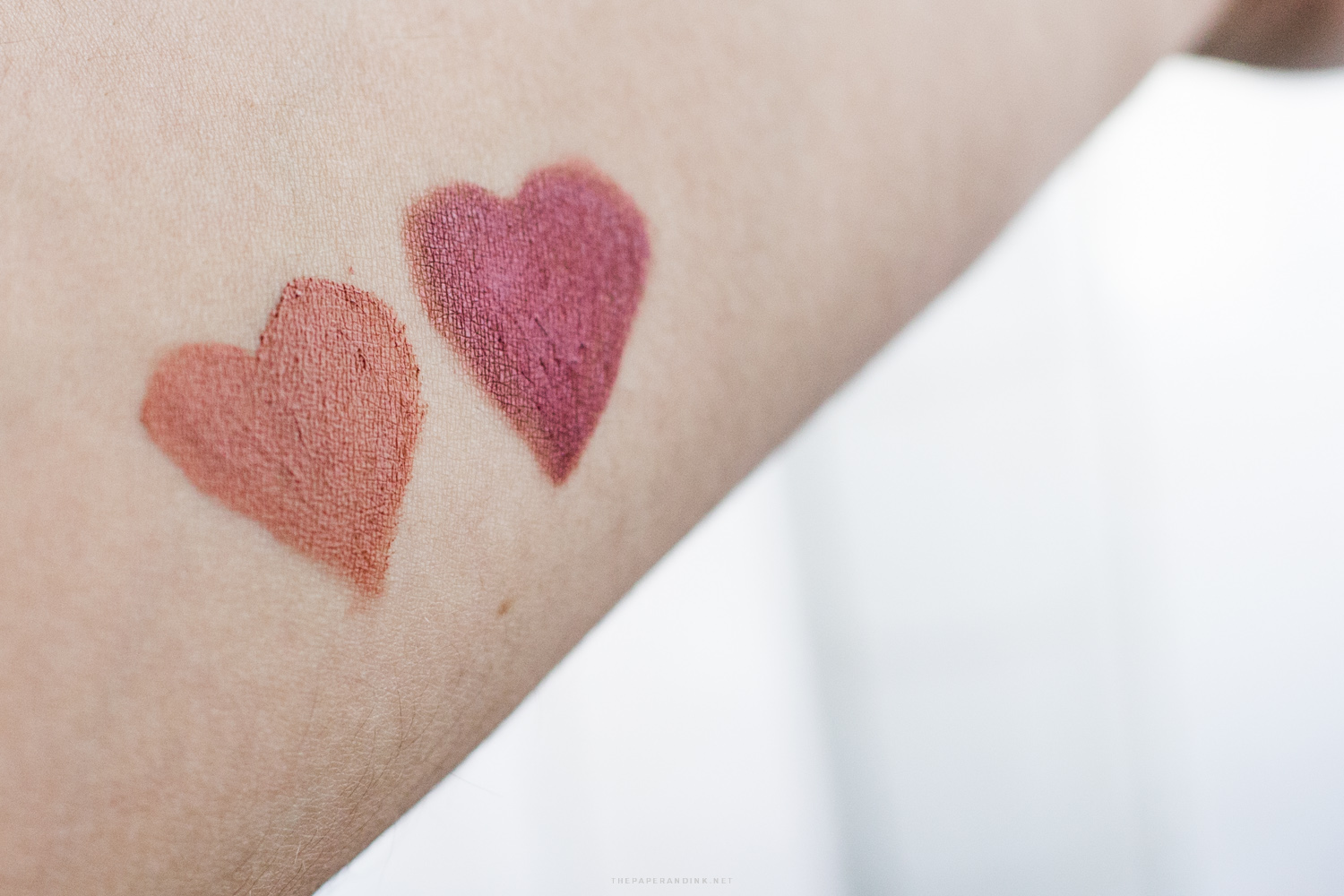 NYX Lingerie Lid and Lip Swatches - Push Up and Evening Spell