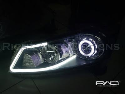 modifikasi lampu depan mobil accord 2008
