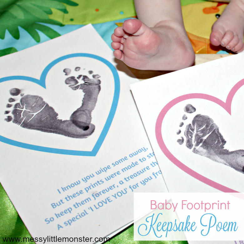 printable baby footprint poem keepsake