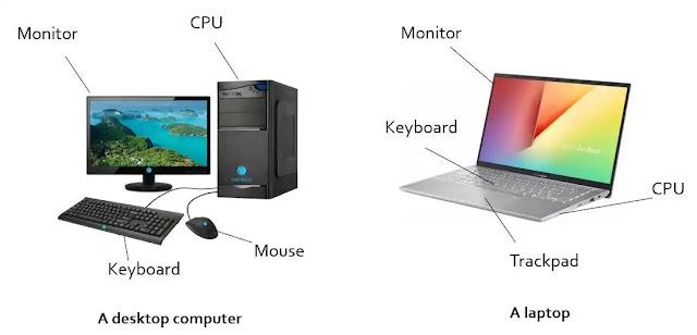 desktop computer and laptop