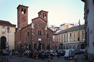 The Piazza San Sepolcro in Milan, where Mussolini  addressed a historic rally in 1919