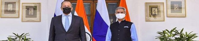 EAM Jaishankar, Russian Foreign Minister Sergey Lavrov Hold Talks