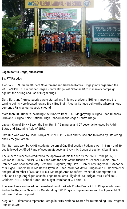 ANHS - SSG Accomplishment Report