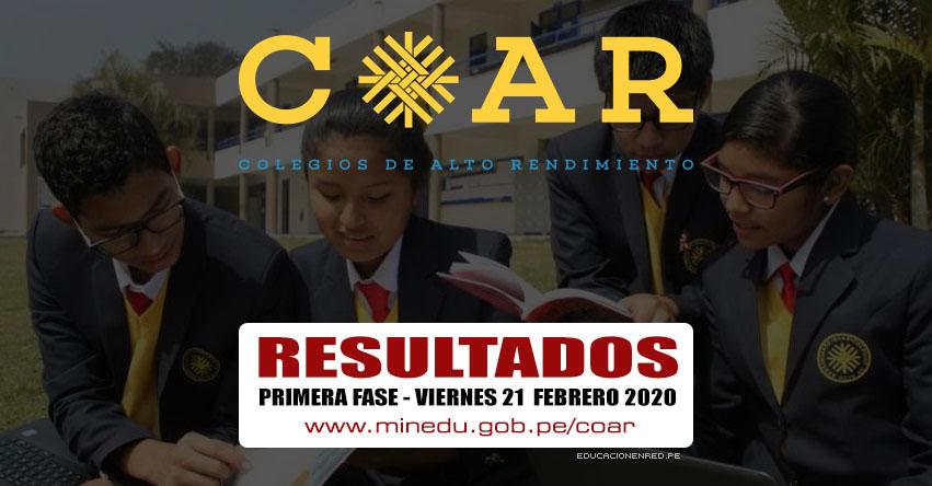 COAR 2020: Resultados Examen de Admisión Primera Fase a Colegios de Alto Rendimiento se publicará hoy Viernes 21 Febrero - MINEDU - www.minedu.gob.pe