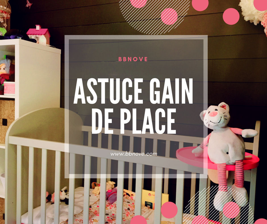 happy new mom astuce gain de place tablette pour lit bebe de chez bbnove. Black Bedroom Furniture Sets. Home Design Ideas