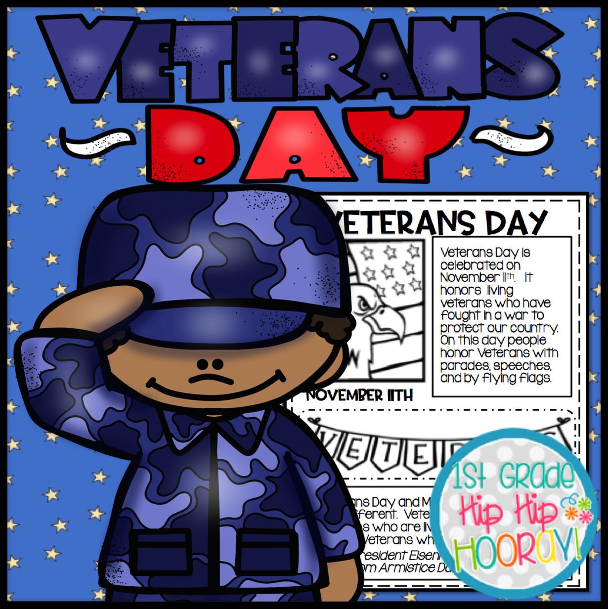 1st Grade Hip Hip Hooray Veterans Day Activities Games