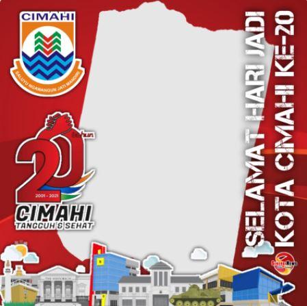twibbon HUT Kota Cimahi 2021