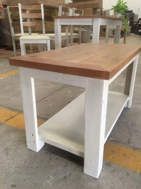 Bàn sofa gỗ thông pallet - sự tinh tế giản đơn
