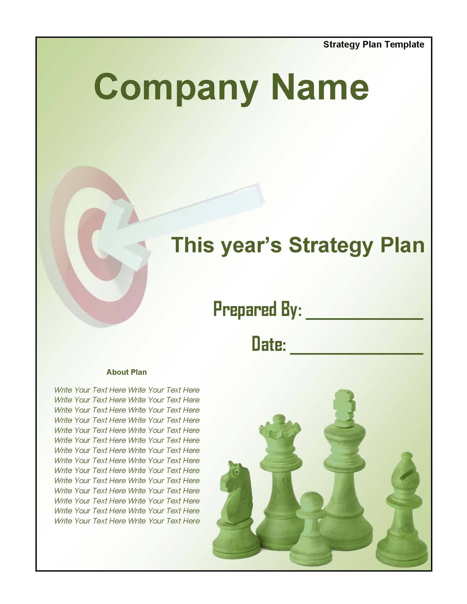 Strategy business plan template in word