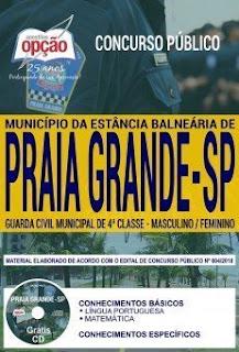 Baixar Apostila Concurso Prefeitura de Praia Grande - SP 2018 PDF