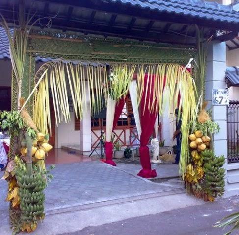 dekorasi pernikahan di rumah | ide kreatif pernikahan