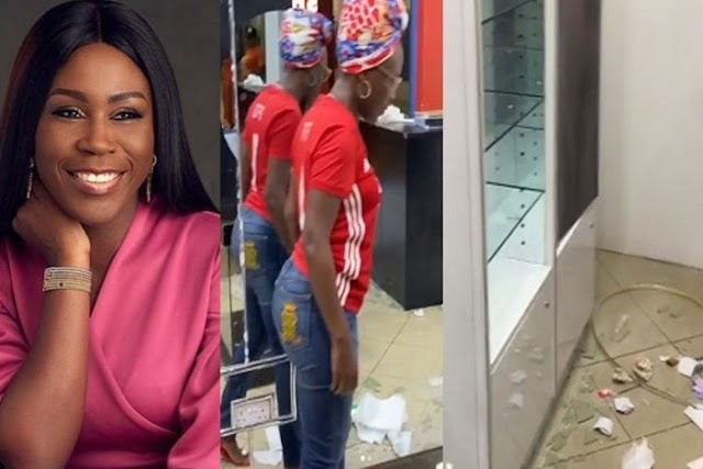 Business Woman, Tara Durotoye Cries Out After Her Shop Was Looted During #ENDSARS Protest (Video)