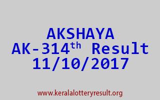 AKSHAYA Lottery AK 314 Results 11-10-2017