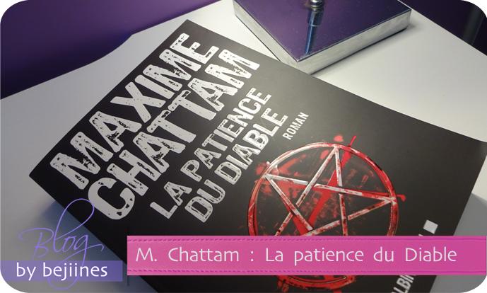 La patience du Diable Maxime Chattam