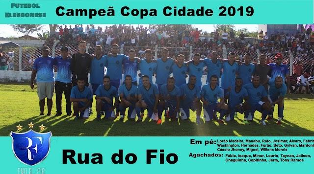 FICHA TÉCNICA RDF-MTX- Final Copa Cidade 2019; Rua do Fio Campeã pela quarta vez. Veja detalhes e poster do campeão