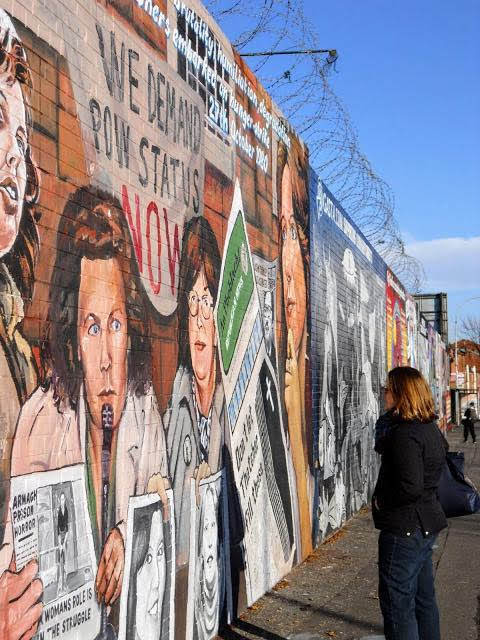 Travel Ireland by Rail from Dublin: Murals on Falls Road in Belfast
