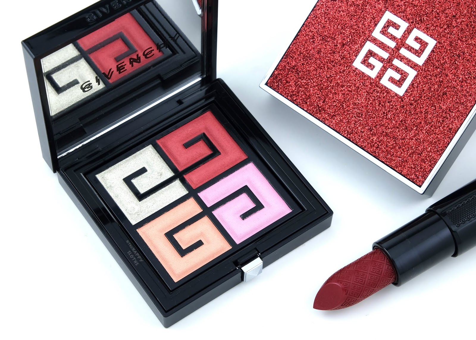 Givenchy Holiday 2019 Red Line Collection | Red Lights 4 Color Face & Eyes Palette: Review and Swatches
