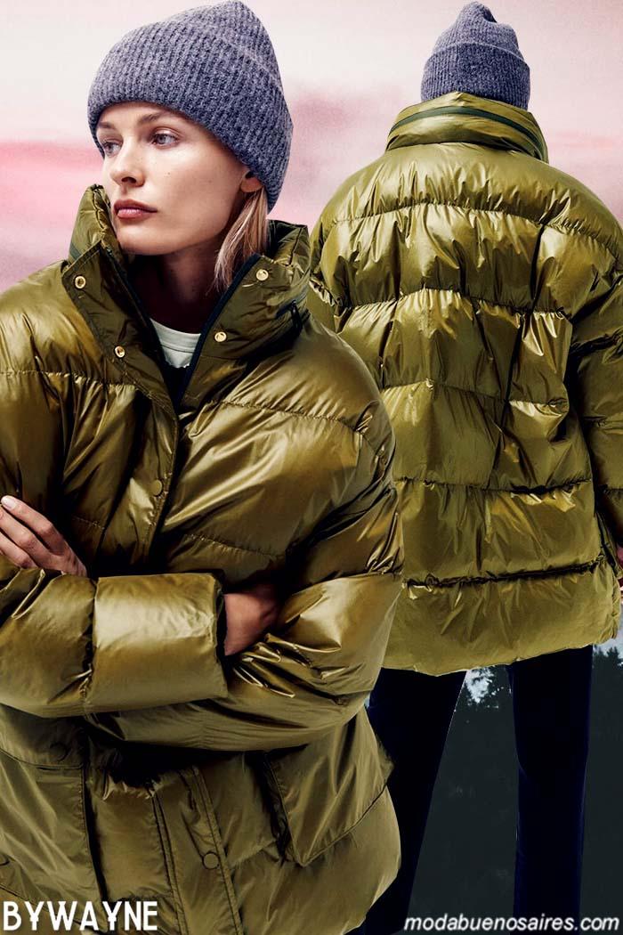 Camperas inflables mujer moda invierno 2021