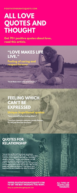 Infographic image; quotes for love