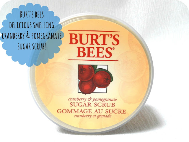 A picture of Burt's Bees Cranberry & Pomegranate Sugar Scrub