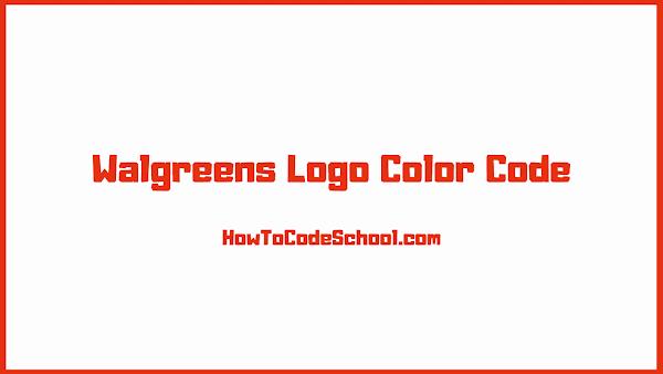 Walgreens Logo Color Code