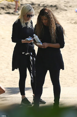 Ciara emerges for the first time since the birth of her daughter