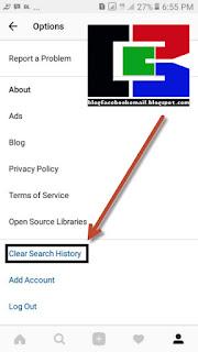 cara menghilangkan jejak pencarian di instagram
