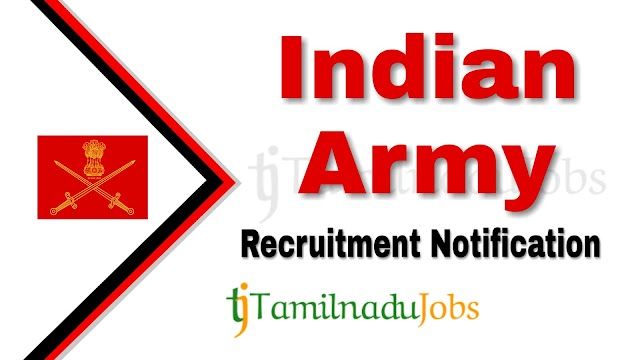 Indian Army Coimbatore Recruitment Rally notification of 2019 - for Soldier