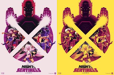 "San Diego Comic-Con 2021 Exclusive X-Men: The Animated Series ""Night of the Sentinels"" Screen Print by Phantom City Creative x Mondo x Marvel"