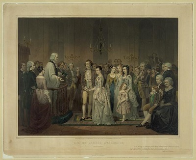 Wedding of George and Martha Washington