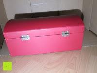 hinten: Adventskalender als piratige rustikale Schatztruhe - 24 einzelnen Schatzboxen - Ideal für den Advent
