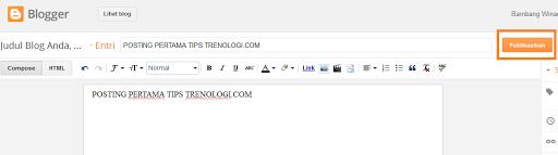 membuat tulisan blog pertama di blogger.com