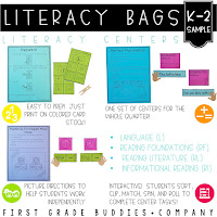 https://www.teacherspayteachers.com/Product/Literacy-Bags-Sample-FREEBIE-K-2-Reading-Centers-1385428
