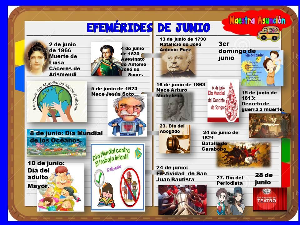 Maestra Asunción Efemérides De Junio
