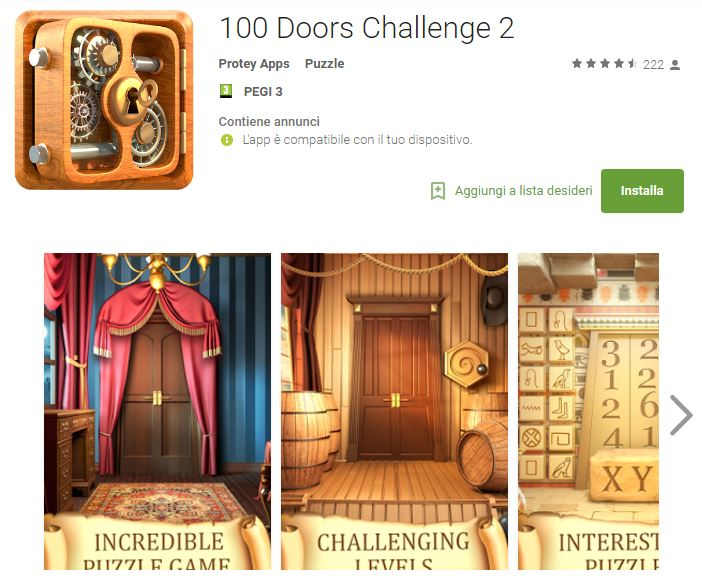 Soluzioni 100 Doors Challenge 2 livello 61 62 63 64 65 66 67 68 69 70 | Trucchi e Walkthrough level