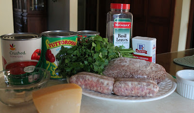 Italian Meat Sauce Ingredients