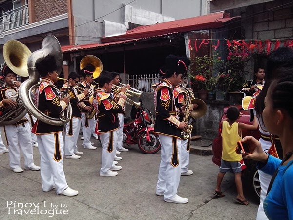 Talisay town's marching band