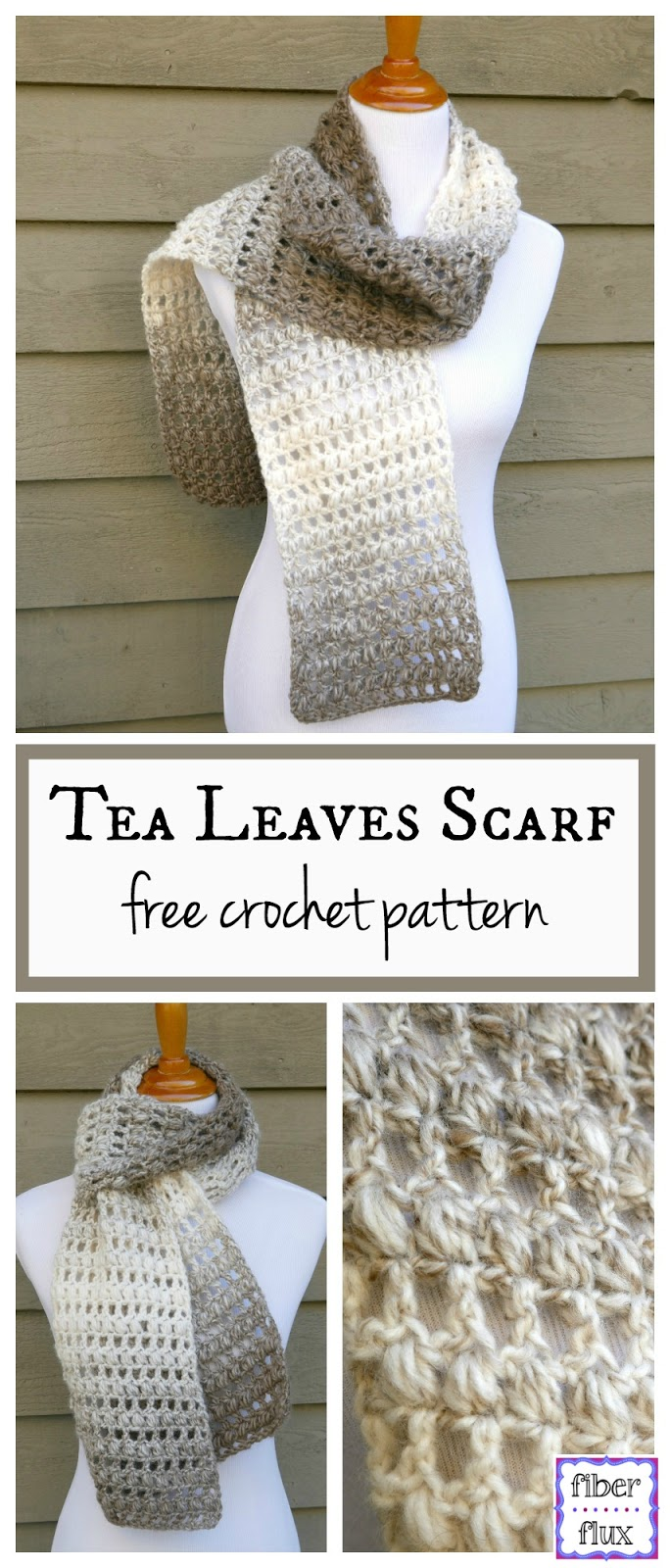 Fiber Flux: Free Crochet Pattern...Tea Leaves Scarf!