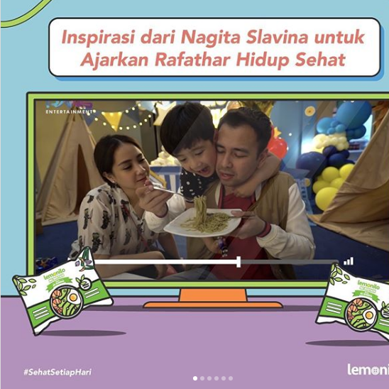 Pola Hidup Sehat Keluarga Raffi Ahmad dan Gigi Bersama Lemonilo