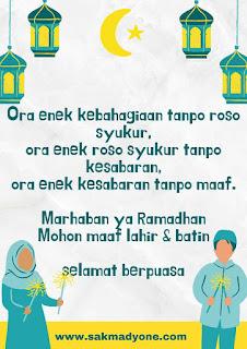 Gambar ucapan ramadhan 1442 bahasa jawa