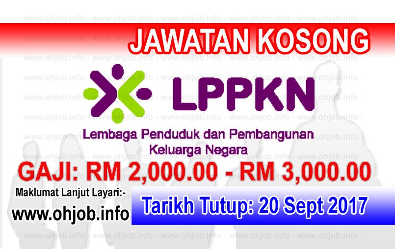 Jawatan Kerja Kosong Lembaga Penduduk dan Pembangunan Keluarga Negara - LPPKN logo www.ohjob.info september 2017